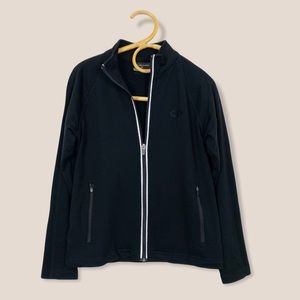 Icebreaker | Black Merino Wool Zip Up Sweater